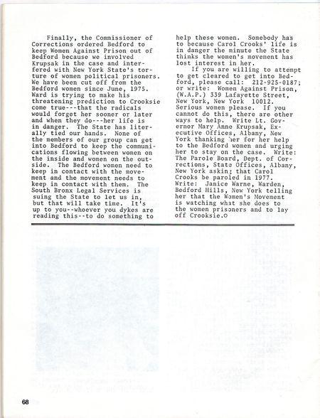 DYKE A QUARTERLY No 1 p 68