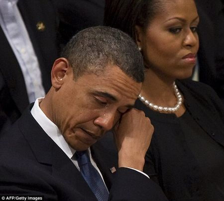 President Obama crying at Dorothy Height funeral, April 29, 2010