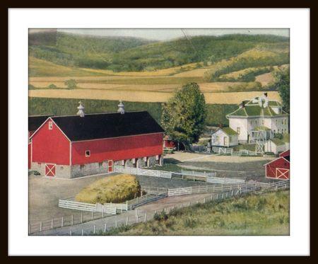 Sherwin williams farm, framed