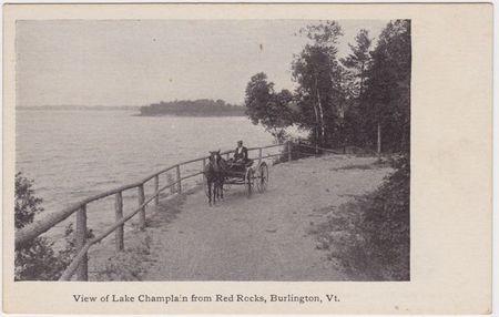 View of lake champlain from red rocks burlington vt