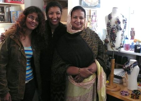 SMALL EQUALS Saada with her daughters. Photo by Liza Cowan