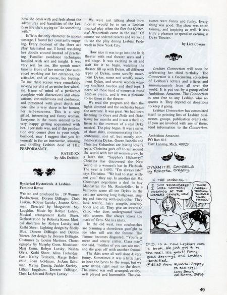 Dyke No 3 p 49 reviews