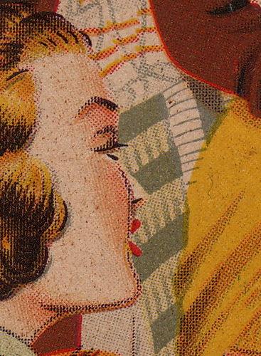 Needle girl face detail. Cowan ephemera collections