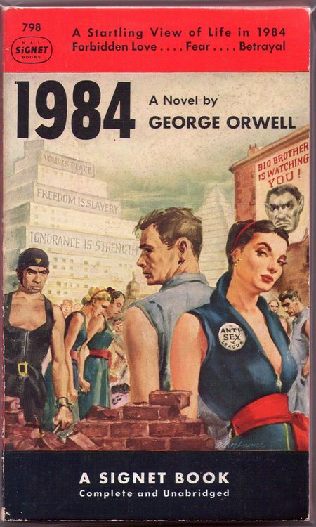 George orwell 1984 signet books 1951 art by Alan Harmon