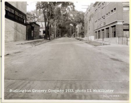 Burlington grocery 1933 McAllister