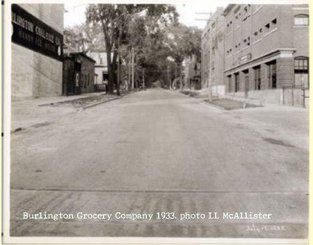 Burlington grocery 1933 McAllister
