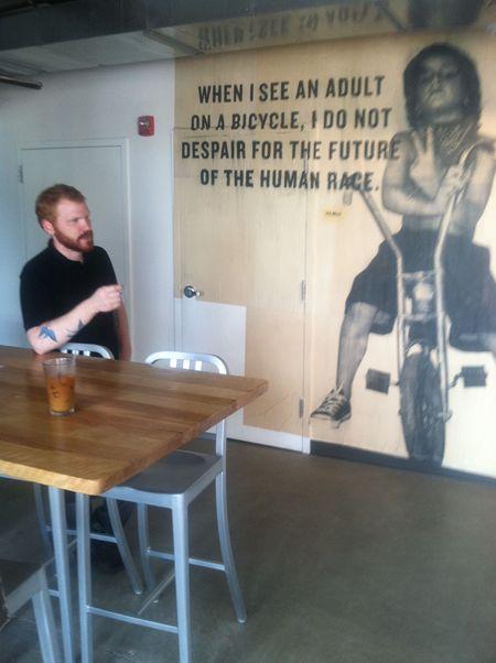 Jesse, manager at Maglianero cafe, burlington vt