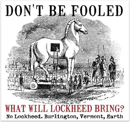 LOCKHEED TROJAN HORSE ENGRAVING DROP