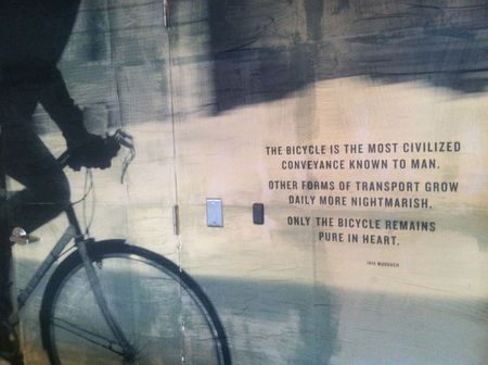 Bicycle is the most civilized=iskra collective. Photo ©Liza Cowan