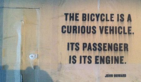 The bicycle is a curious vehicle