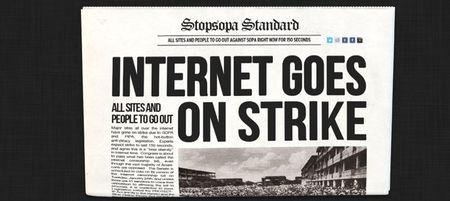 Strike Against SOPA & PIPA