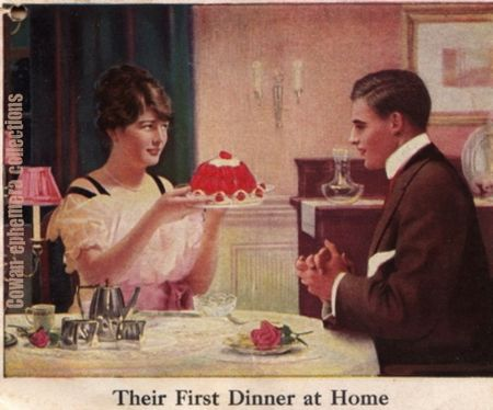 Jello =their first dinner at home cowan ephemera collections