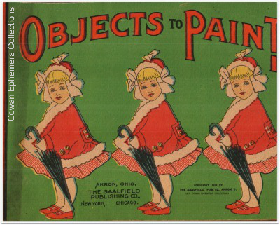Objects to paint, coloring book, 1910, cover, cowan ephemera