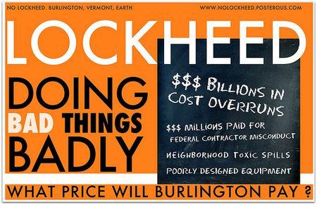Lockheed Martin, doing bad things badly. Liza Cowan for NoLockheed 2012