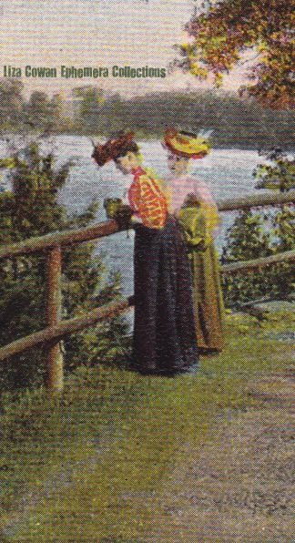 Postcard detail burlington red rocks women taking photo circa 1906 liza cowan ephemera collections