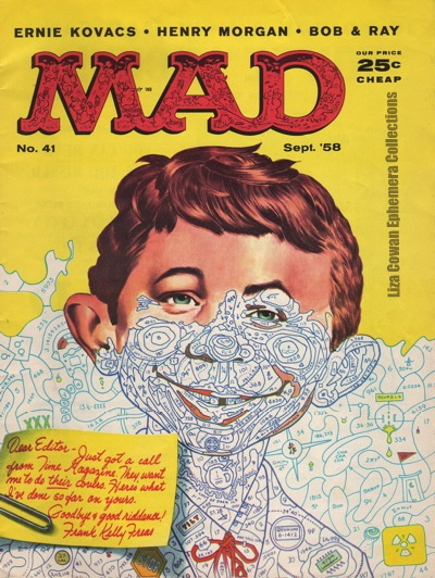 Mad Magazine no 41 Sept 1958 Paint By Number Liza Cowan Ephemera Collections