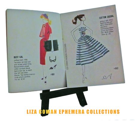 photo ©Liza Cowan. Barbie bookelet 1958  busy gal liza cowan ephemera collections