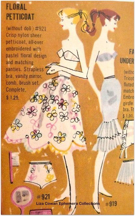 Barbie booklet 1958 floral petticoat detail liza cowan ephemera collections