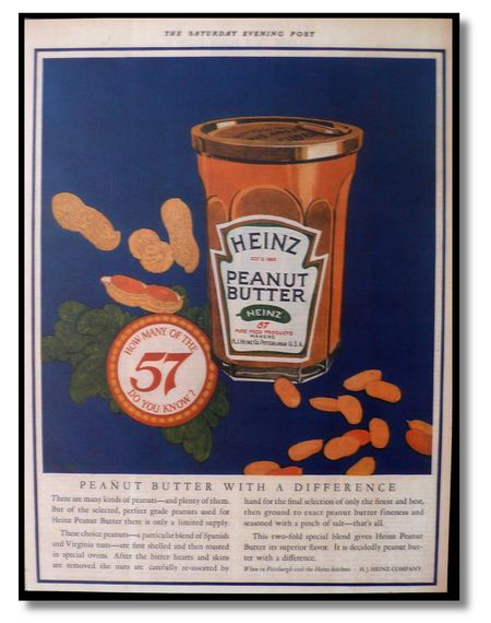 Heinz peanut butter  saturday evening post 1925,