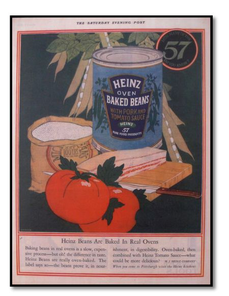 Heinz baked beans ad 1925 Saturday Evening Post