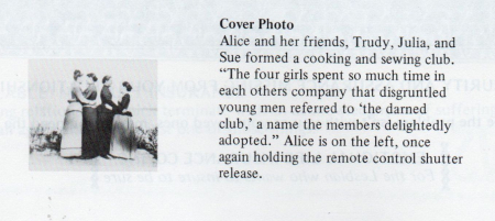 Alice austen, that darned club, from DYKE A Quarterly no 3, 1976