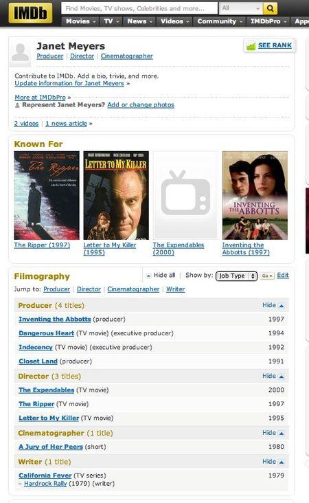 Janet Meyers - IMDb