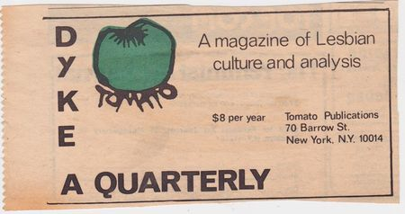 Dyke a quarterly  ad  green tomato