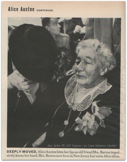 Alice Austen, Deeply Moved Mrs. Barton, LIFE Magazine 1951