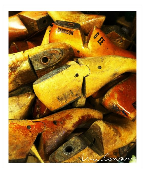 wooden shoe forms, fishes eddy, photo ©Liza Cowan