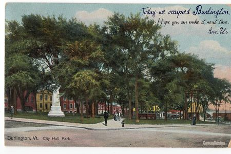 Today we occupied Burlington postcard