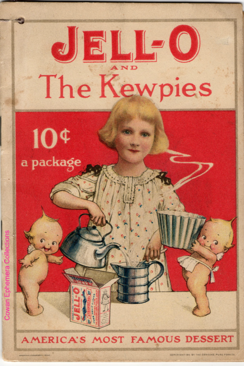 Jello girl the kewpies  recipe book cowan ephemera collections