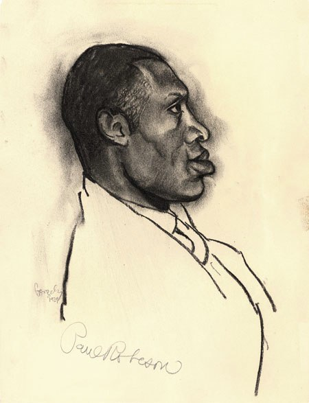 Tibor Gergely sketch of Paul Robeson '29 Vienna