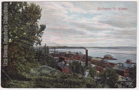 Postcard burlington vermont Harbor liza cowan ephemera collections