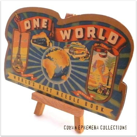 Needle pack one world Liza Cowan Ephemera Collections