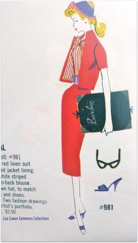 Barbie booklet 1958 Busy Gal detail liza cowan ephemera collections