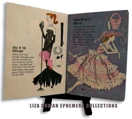 Barbie booklet 1958 solo in the spotlight, plantation belle, Liza Cowan ephemera collections