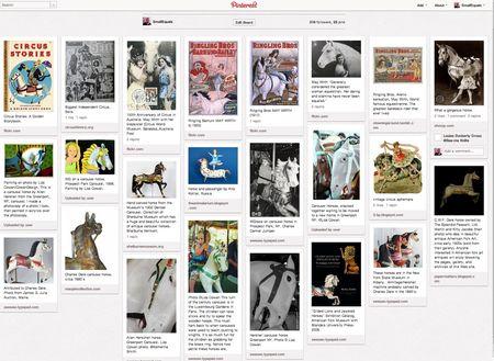 Pinterest, circus horses, carousel horses, liza cowan, small equals