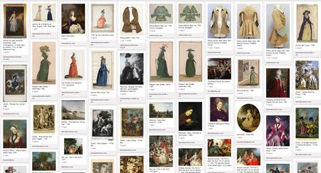 Pinterest screen shotRiding Habit 18th century