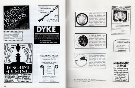 Dyke a quarterly no 3 pp 50 and inside back cover ads