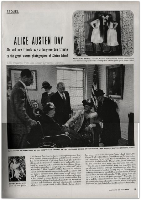 Alice Austen Day Life Magazine