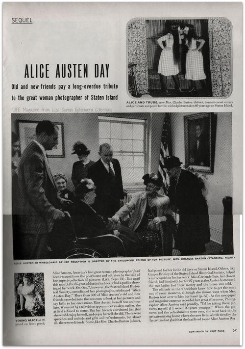 Alice Austen Day Life Magazine
