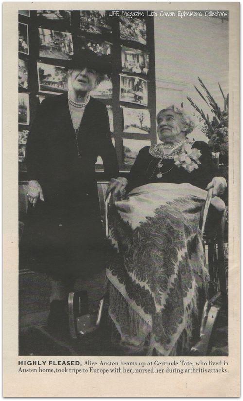 Alice Austen and Gertrude Tate, 1951, LIFE Magazine