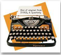 Typewriter marks end of original story