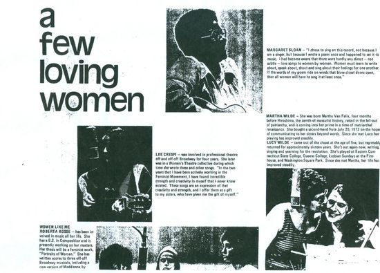 A few loving women lesbian feminst liberation back cover courtesy queermusicheritage
