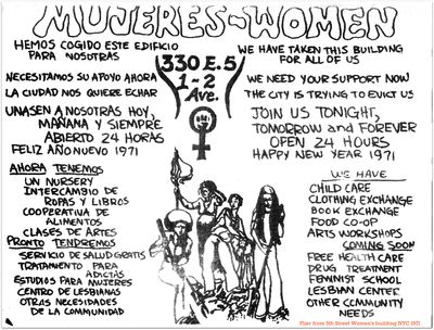 5the street womens bldg flier we have taken this building for all of us. January 1971