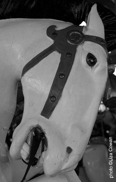 hershell carousel horse, greenport LI