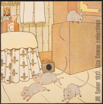 Ml spoor hickory dickory three mice liza cowan collections