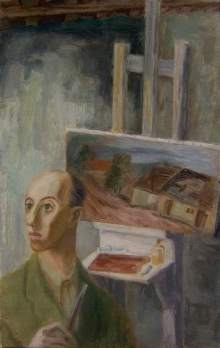 Tibor gergely self portrait oil painting 1935