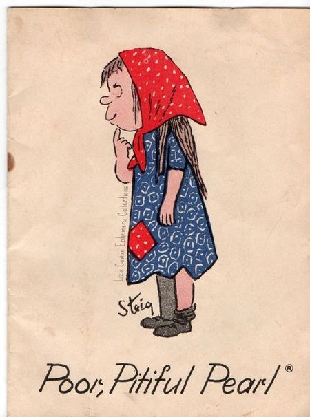 Poor Pitiful Pearl William Steig  booket cover. Liza Cowan Ephemera Collections