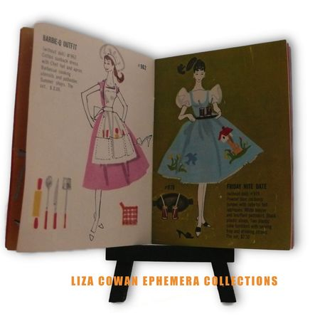 photo ©liza Cowan. Barbie booklet 1958 barbie q, friday night date, liza cowan ephemera collections